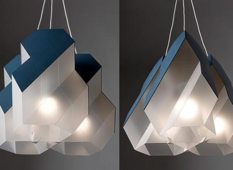 Polygon-9 modularni luster, prikazana oba oblika