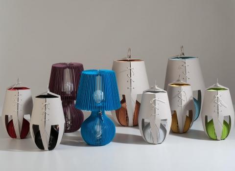 Stripes stolna lampe sve boje, dio u pakovanju