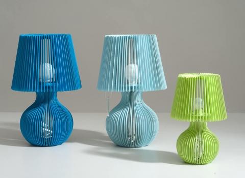 Stripes stolna lampa dvije plave i mala zelena