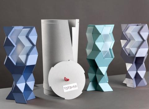 Tetra-E stolne lampe sa pakovanjem, tri u nizu plus paket