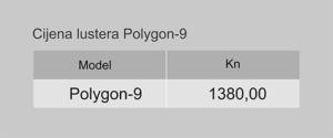 Tablica sa cijenom lustera Polygon-9