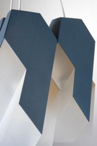 Detalj lustera, dva modula krupni plan luster Polygon-9